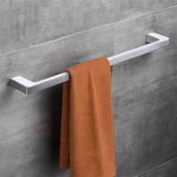 600mm Rectangle Towel Rail Chrome and White