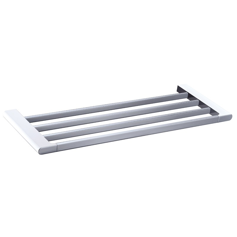 600mm Towel Rack Chrome and White AL-5303-600-CW