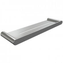 Single Metal Shelf Storage Wall Mounted Chrome