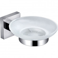 Soap Dish Holder with Square Bracket Chrome