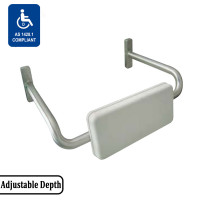 40mm Thick Assist Back Rest Satin Stainless Steel 304 Adjustable Tubular Frame White Polyurethane Cushion