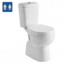 620x350x860mm Ambulant Toilet Suite with Closed Couple and Box Rim for Special Care and bathroom