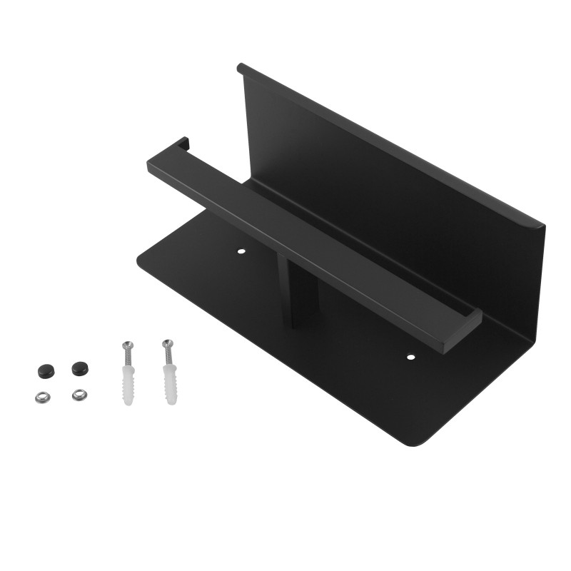 ottimo black double toilet paper holder stainless steel wall mounted AC6114B