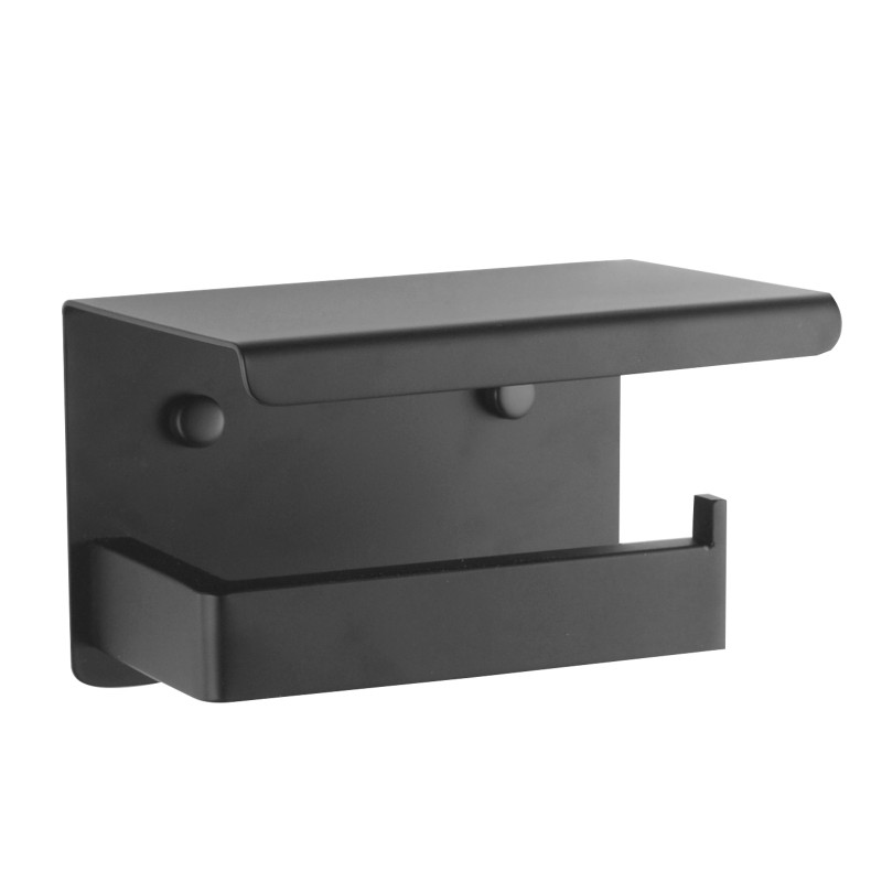 Ottimo Nero Black Toilet Paper Holder AC6115B