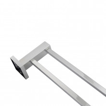 Ottimo Chrome Double Towel Rail 600mm Stainless Steel