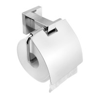 Ottimo Chrome Toilet Paper Roll Holder with Cover Wall Mounted