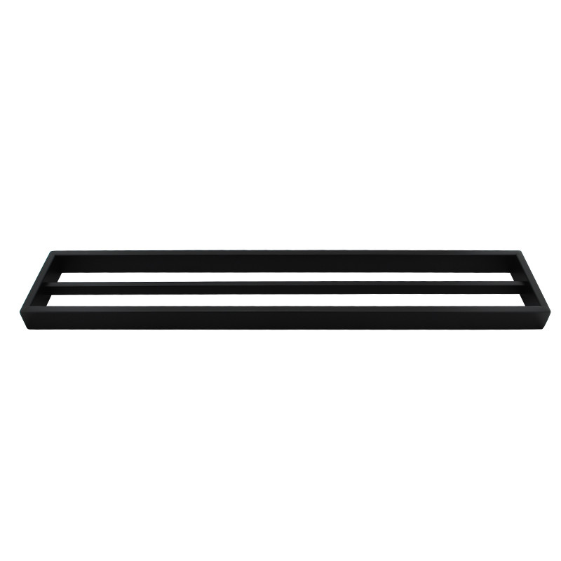Omar Nero Black Double Towel Rail 600mm AC6402B