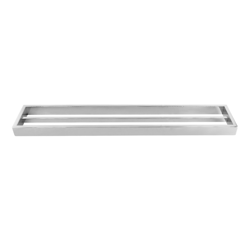 Omar Chrome Double Towel Rail 600mm AC6402