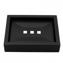 Omar Nero Black Soap Dish Holder