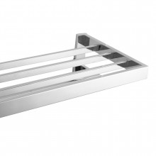 Omar Chrome Double Towel Holder Shelf 600mm Stainless Steel