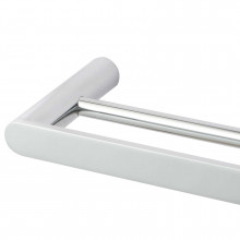 Chrome Double Towel Rail 600mm Stainless Steel 304 Wall Mounted