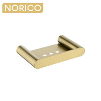 Norico Esperia Brushed Yellow Gold Soap Dish Holder Tray Holder Stainless Steel Wall Mounted