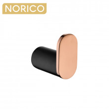 Norico Esperia Black & Rose Gold Robe Hook Wall Mounted Stainless Steel