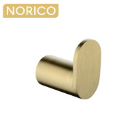 Norico Esperia Brushed Yellow Gold Robe Hook Wall Mounted Stainless Steel