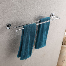 Euro Pin Lever Round Chrome Double Towel Rack Rail 790mm CUT TO SIZE