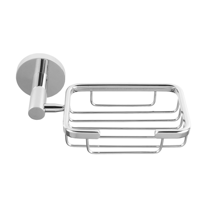Euro Pin Lever Round Chrome Soap Holder Stainless Steel Wall Mounted AC6606