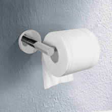 Euro Pin Lever Round Chrome Toilet Paper Roll Holder Stainless Steel Wall Mounted