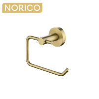 Norico Round Brushed Yellow Gold Toilet Paper Roll Holder Stainless Steel