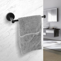 Euro Pin Lever Round Black Hand Towel Holder Stainless Steel Wall Mounted
