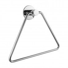 Zevi Self Adhesive Round Chrome Hand Towel Holder 304 Stainless Steel Drill Free