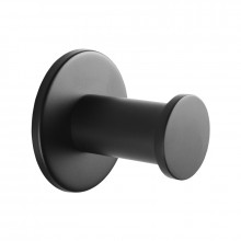 Zevi Self Adhesive Round Black Robe Hook 304 Stainless Steel Wall Mounted Drill Free
