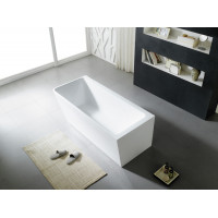 1490x750x615mm Avis Corner Back to Wall Bathtub Right Corner Acrylic Gloss White NO Overflow