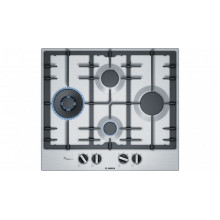Bosch Series 6 60cm 4 Burner Stainless-steel Gas Cooktop with FlameSelect
