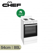 Chef 54cm White Freestanding Electric Cooker with Conventional Oven