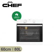 Chef 60cm White Electric Oven with 120 Minute Timer