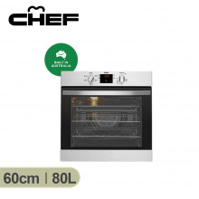 Chef 60cm Stainless Steel Multifunction Electric Oven with Programmable Timer