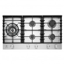 Electrolux 90cm 5 Burner Stainless Steel Gas Cooktop
