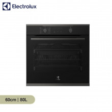 Electrolux 60cm 80L Underbench/Built-in Dark Stainless Steel 10 Multifunction Pyrolytic Oven
