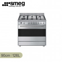 Smeg 90cm Stainless Steel Freestanding Cooker with LED Programmer