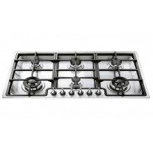 Smeg 90cm Satin Stainless Steel Topmount Gas Cooktop