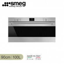 Smeg 90cm 100L Classic Thermoseal Stainless Steel Built-in Oven