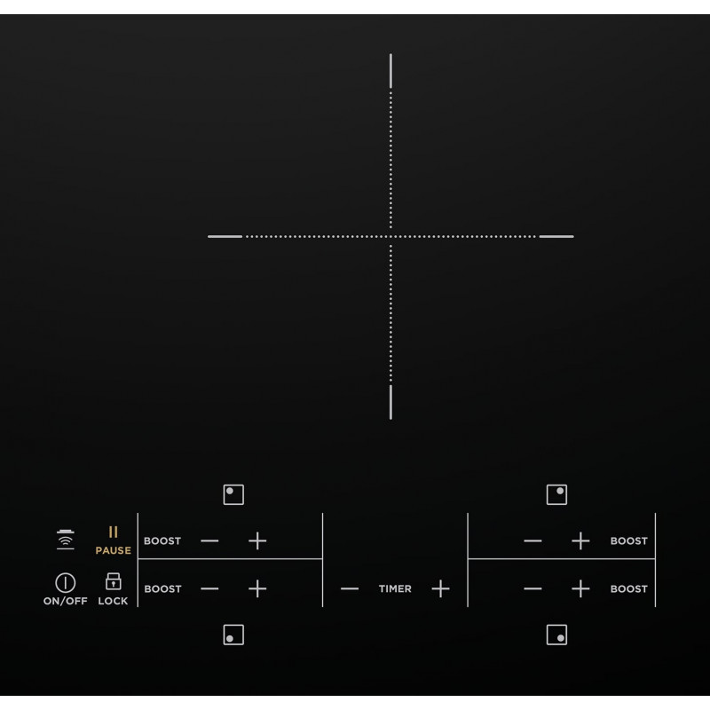 Westinghouse 60cm 4 Zone Induction Cooktop with Hob2Hood SAH-WHI643BC