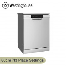 Westinghouse 60cm Stainless Steel 13 Place Setting Active Dry Freestanding Dishwasher