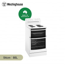 Westinghouse 54cm Freestanding Cooker with Solid Hob and fan forced oven