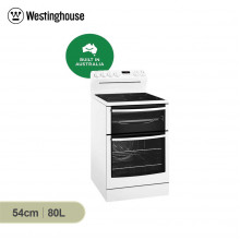 Westinghouse 54cm 80L White Freestanding Electric Cooker with Separate Grill