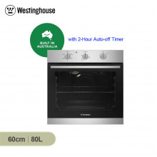 Westinghouse 60cm 80L Stainless Steel Multifunction Built in Oven