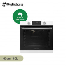 Westinghouse 60cm 80L White Multifunction Built in Oven with Programmable Timer