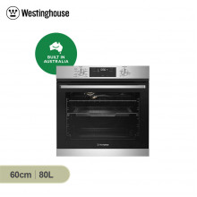 Westinghouse 60cm 80L Stainless Steel Built in Multifunction Oven with AirFry