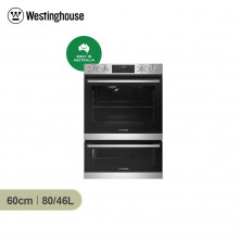 Westinghouse 60cm 80/46L Stainless Steel Multifunction Built in Duo Oven