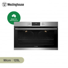 Westinghouse 90cm 125L Stainless Steel Multifunction Built in Oven