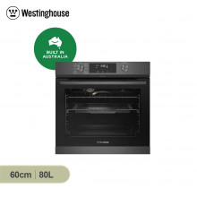 Westinghouse 60cm 80L Dark Stainless Steel Pyrolytic Buit in Oven with AirFry