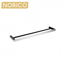 Norico Esperia Chrome & Matt Black Double Towel Rail 600mm Stainless Steel 304 Wall Mounted