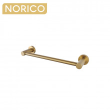 Norico Round Brushed Yellow Gold Hand Towel Holder 347mm Wall Mounted