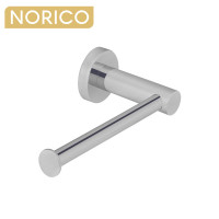 Norico Round Brushed Nickel Toilet Paper Roll Holder Stainless Steel Wall Mounted