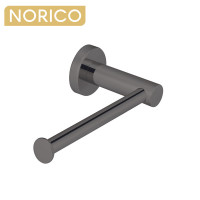 Norico Round Gunmetal Grey Toilet Paper Roll Holder Stainless Steel Wall Mounted