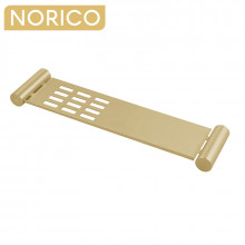 Norico Esperia Brushed Yellow Gold Towel Shelf Stainless Steel Wall Mounted